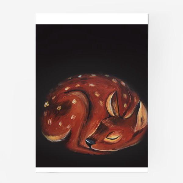 Постер «Спящий олень»