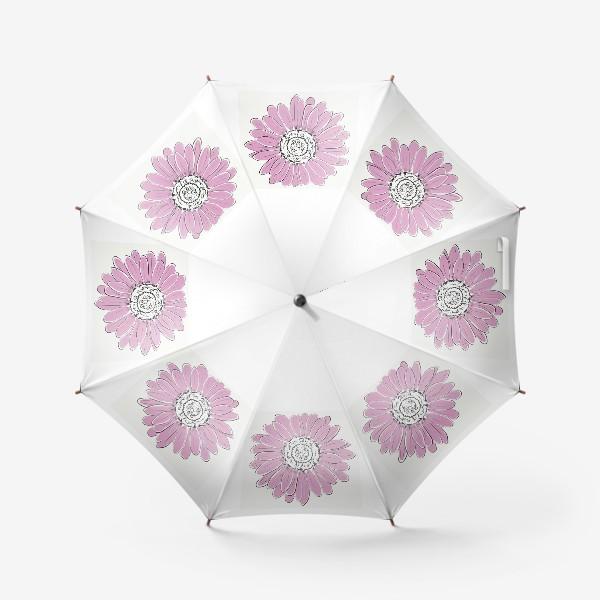 Зонт «Розовая ромашка»