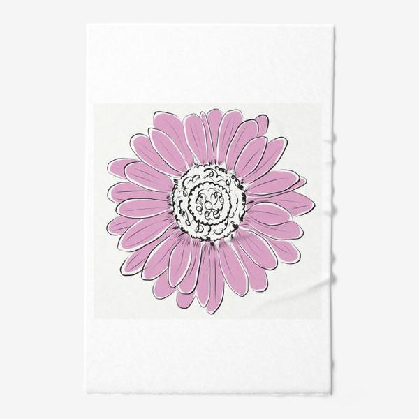 Полотенце «Розовая ромашка»