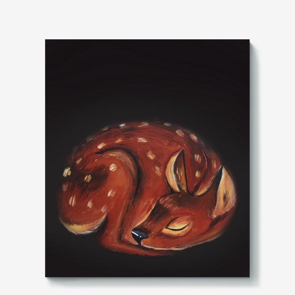 Холст «Спящий олень»