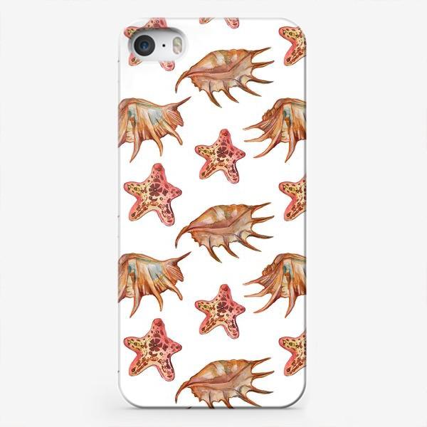 Чехол iPhone «Ракушки и морская хвезда»