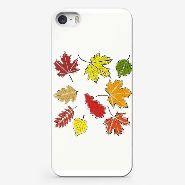 Чехол iPhone «Осенние падающие листья»