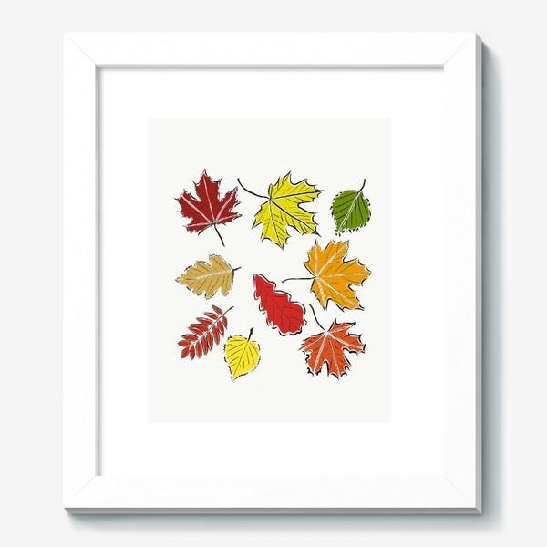 Картина «Осенние падающие листья»