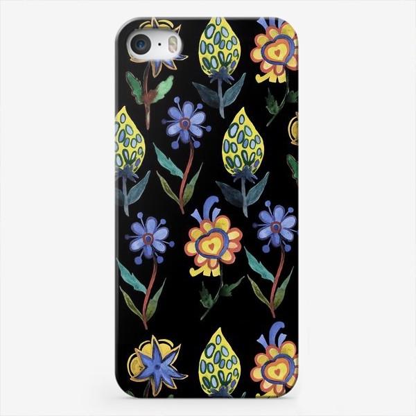 Чехол iPhone «Индийские мотивы на черном»