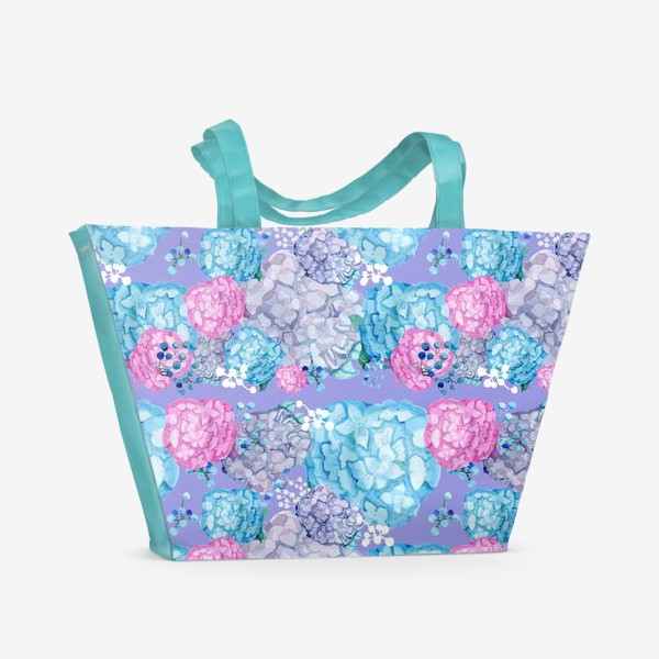 Пляжная сумка «Гортензия и гипсофилы»