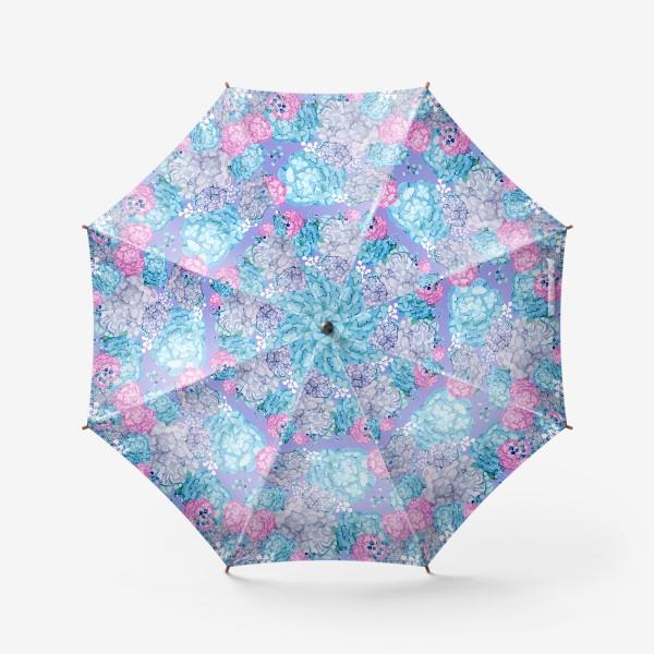 Зонт «Гортензия и гипсофилы»