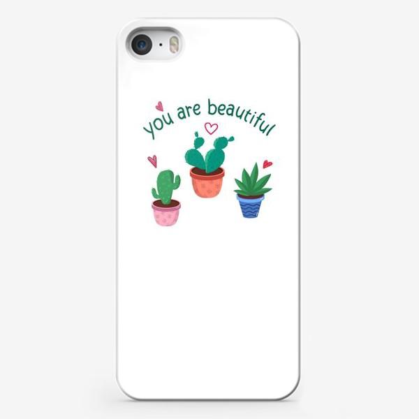 Чехол iPhone «Кактусы»