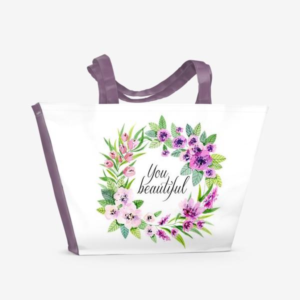 Пляжная сумка «you beautiful»
