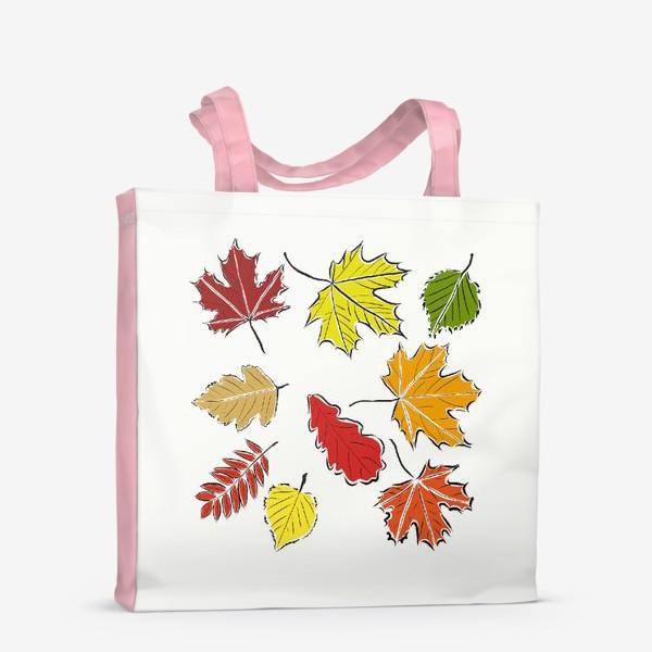 Сумка-шоппер «Осенние падающие листья»