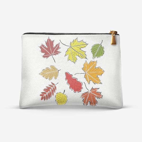 Косметичка «Осенние падающие листья»