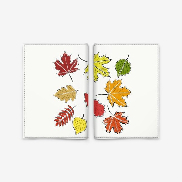 Обложка для паспорта «Осенние падающие листья»