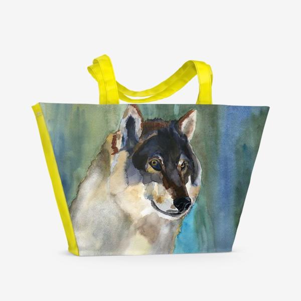 Пляжная сумка «волк»