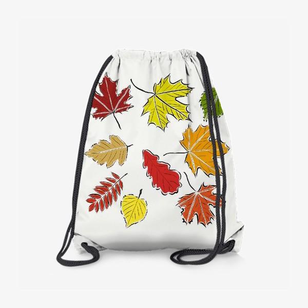 Рюкзак «Осенние падающие листья»