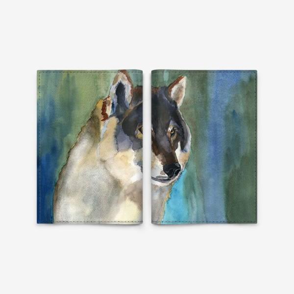 Обложка для паспорта «волк»