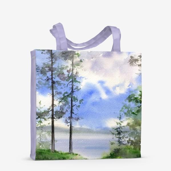 Сумка-шоппер «Акварель Летний лес»