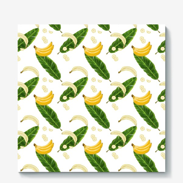 Холст «Принт бананы»