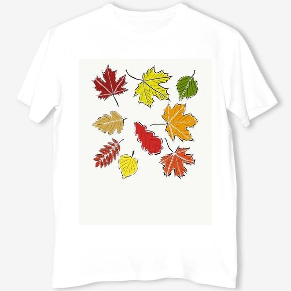 Футболка «Осенние падающие листья»