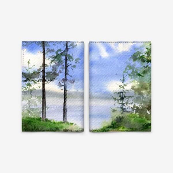 Обложка для паспорта «Акварель Летний лес»