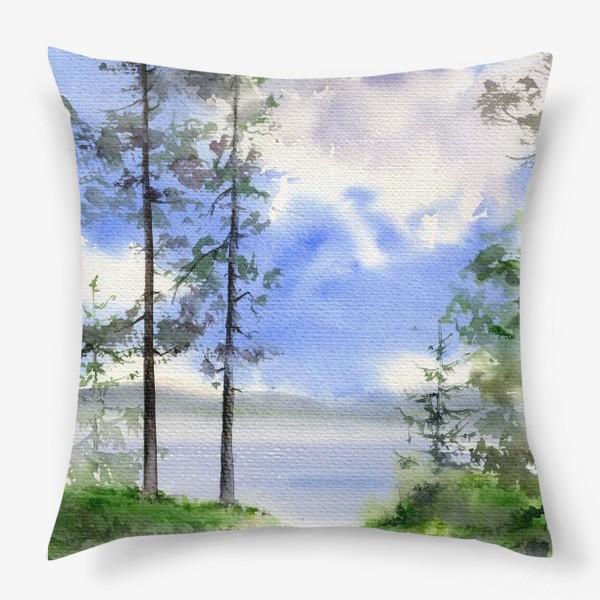 Подушка «Акварель Летний лес»