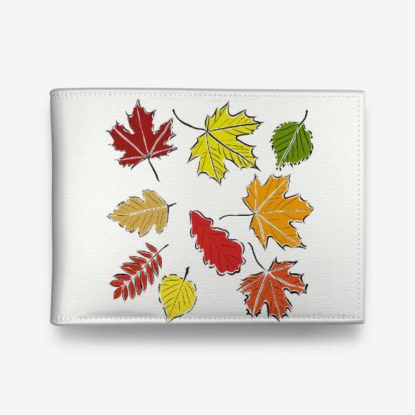 Кошелек «Осенние падающие листья»