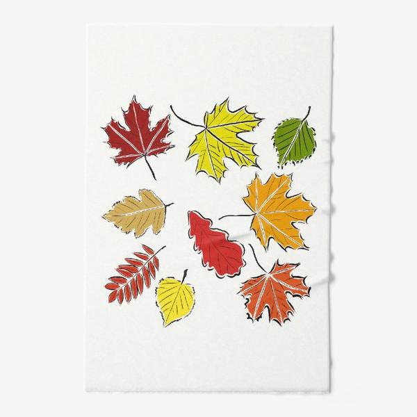 Полотенце «Осенние падающие листья»