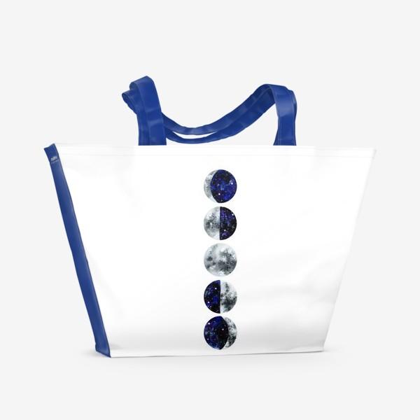 Пляжная сумка «Фазы луны»