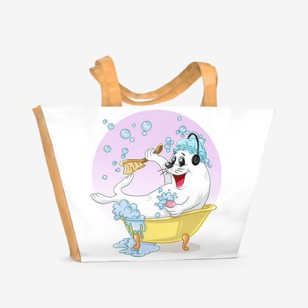 Пляжная сумка «тюленьчик»