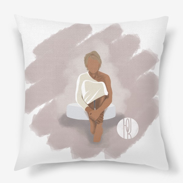 Подушка «Девушка на пуфе»