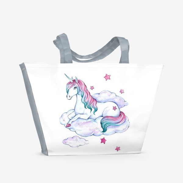 Пляжная сумка «Волшебный единорог»