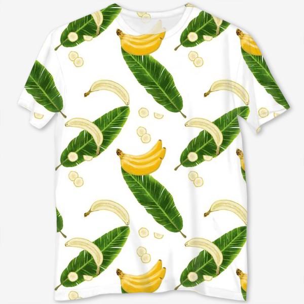 Футболка с полной запечаткой «Принт бананы»