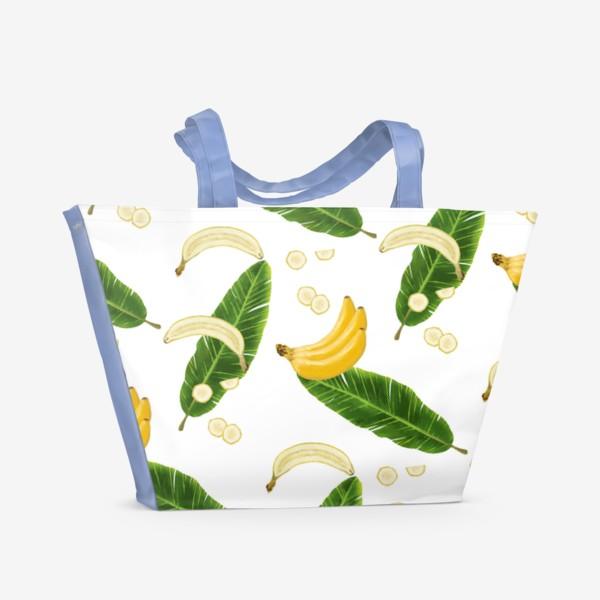 Пляжная сумка «Принт бананы»