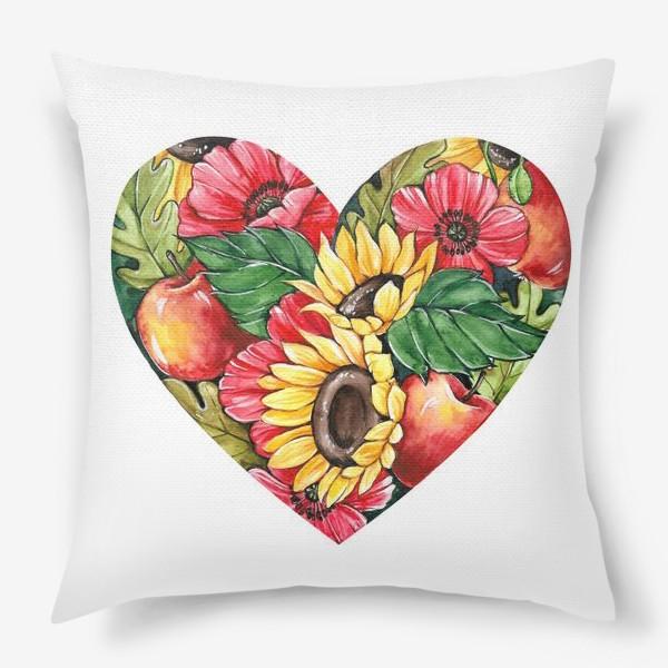 Подушка «Сентябрьское сердце»