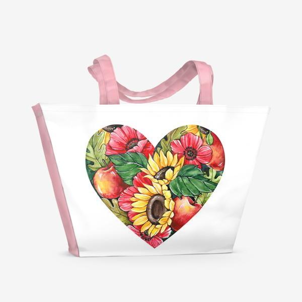 Пляжная сумка «Сентябрьское сердце»