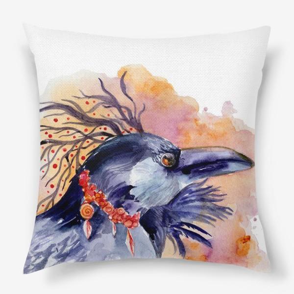 Подушка «Ворон »