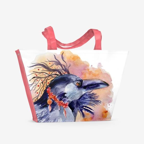 Пляжная сумка «Ворон »
