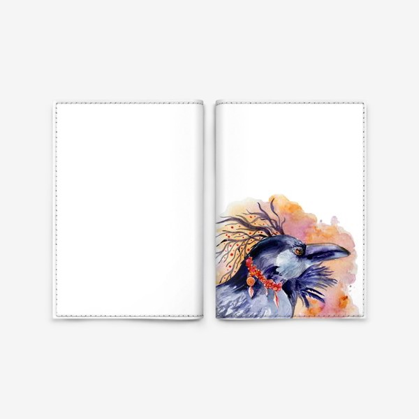 Обложка для паспорта «Ворон »