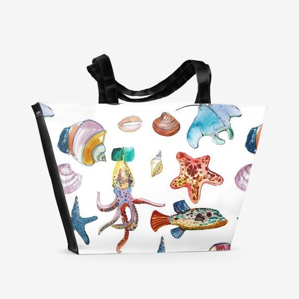 Пляжная сумка «Глубинные миры»