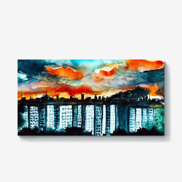 Холст «Городская романтика»
