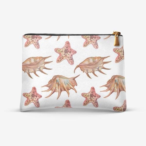 Косметичка «Ракушки и морская хвезда»