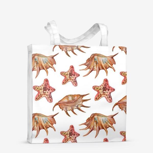 Сумка-шоппер «Ракушки и морская хвезда»