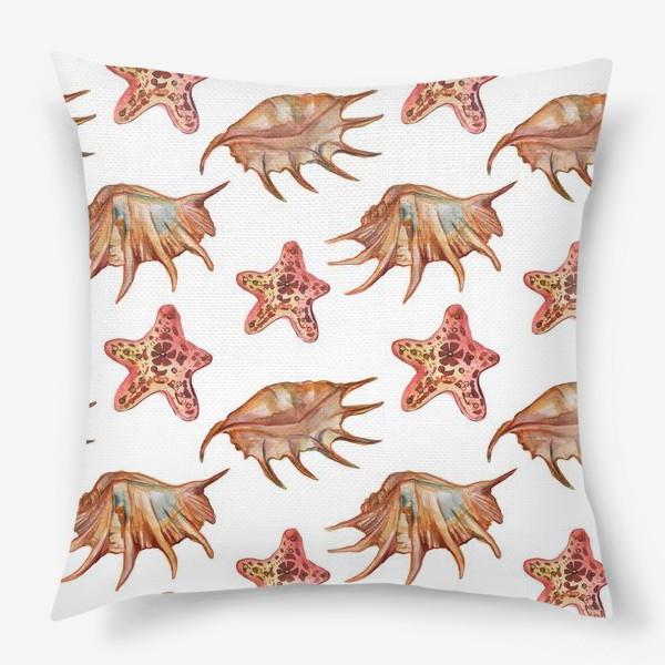 Подушка «Ракушки и морская хвезда»