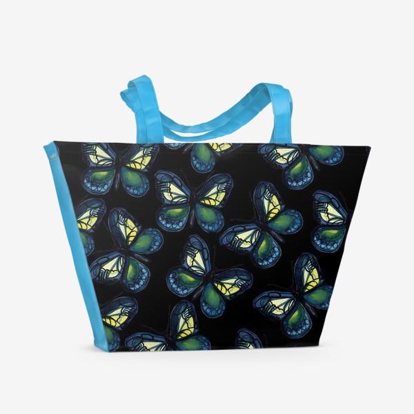 Пляжная сумка «Бабочки летней ночью»