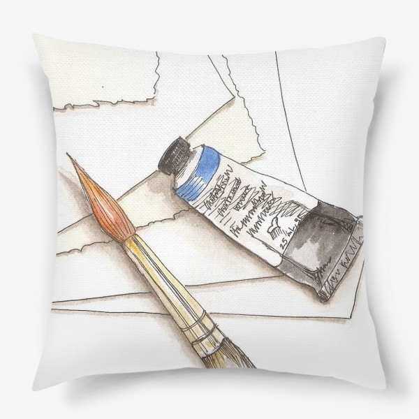 Подушка «Кисти & краски»