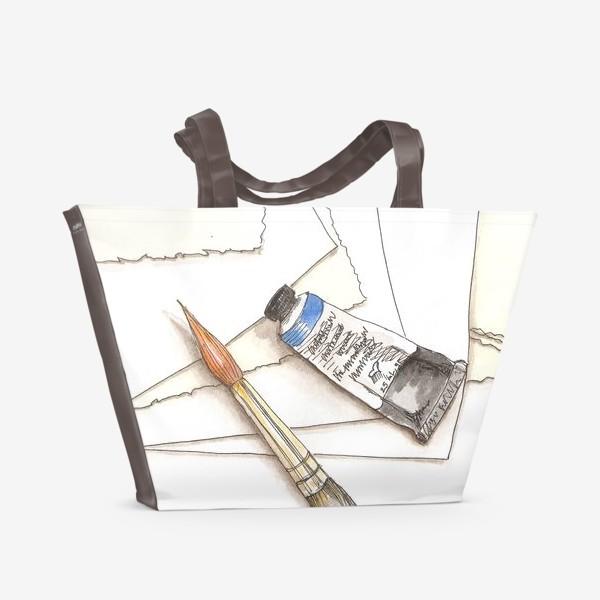 Пляжная сумка «Кисти & краски»