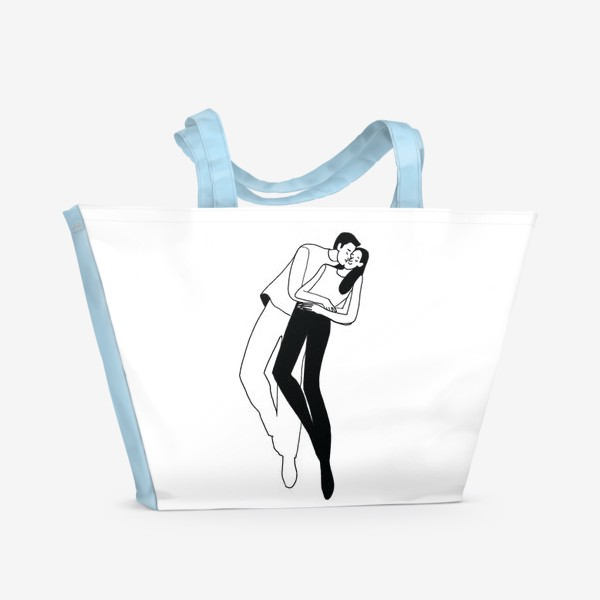 Пляжная сумка «LOOOOOOOVE»