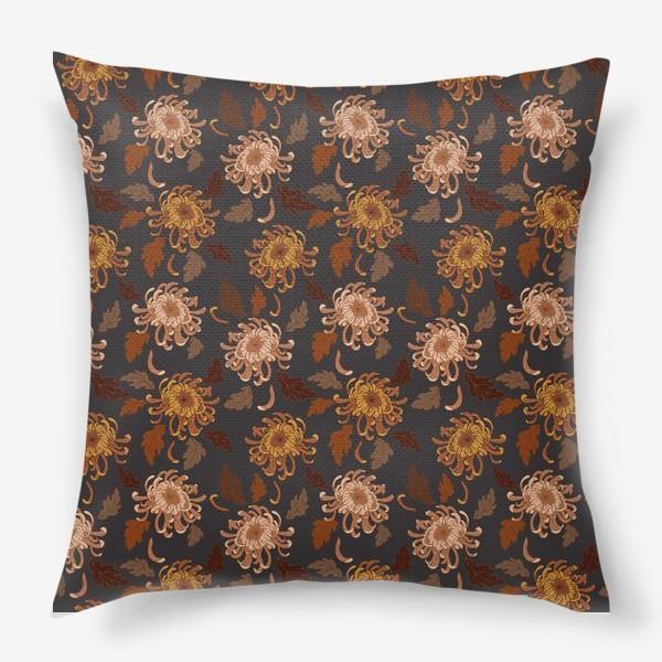 Подушка «осенние хризантемы»