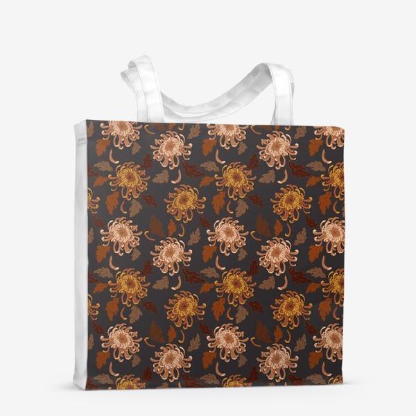 Сумка-шоппер «осенние хризантемы»