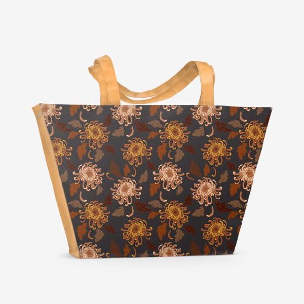 Пляжная сумка «осенние хризантемы»
