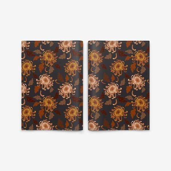 Обложка для паспорта «осенние хризантемы»