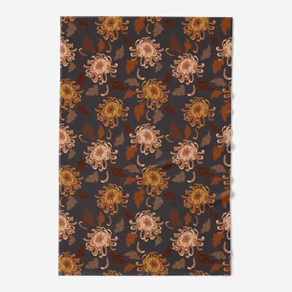 Полотенце «осенние хризантемы»